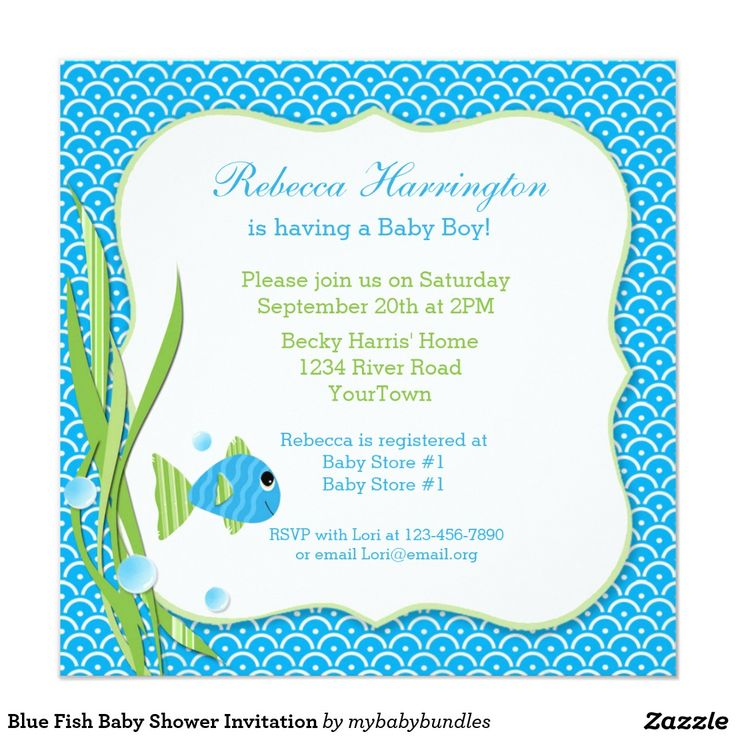 17 best ideas about fish baby showers on pinterest for Fishing baby shower invitations