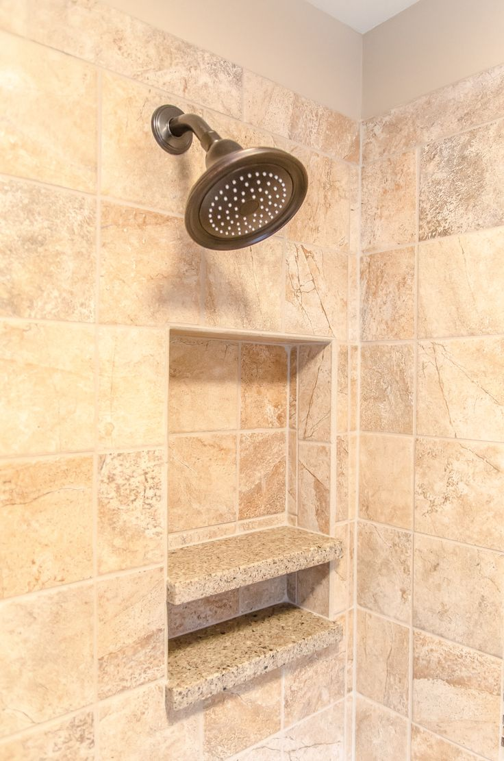 Shower Tile And Quartz Shelving Insertshower