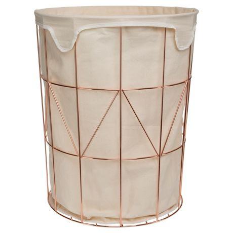 Garcia Laundry Basket 51cm Copper Colour