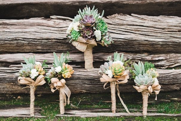 Bridal bouquets by Succulently Urban, Coachella wedding photographers, Randy and Ashley, destination wedding photography palm springs