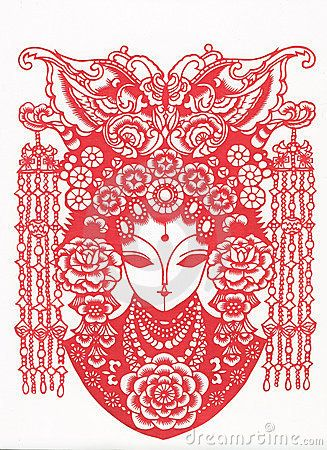 Paper-cut of chinese traditional pattern by Xinzheng Wang, via Dreamstime