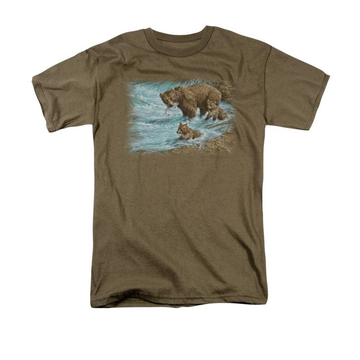 Wildlife - Alaskan Brown Bear Adult Regular Fit T-Shirt