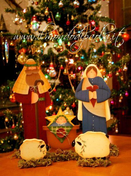 Da un progetto di renee mullins ... non poteva mancare un presepe ... anche questo lo potete trovare sabato e domenica ai mercatini di Natale a Gaggino e Faloppio ...