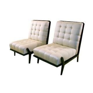 Italian Lounge Chairs, c. 1940s - A Pair