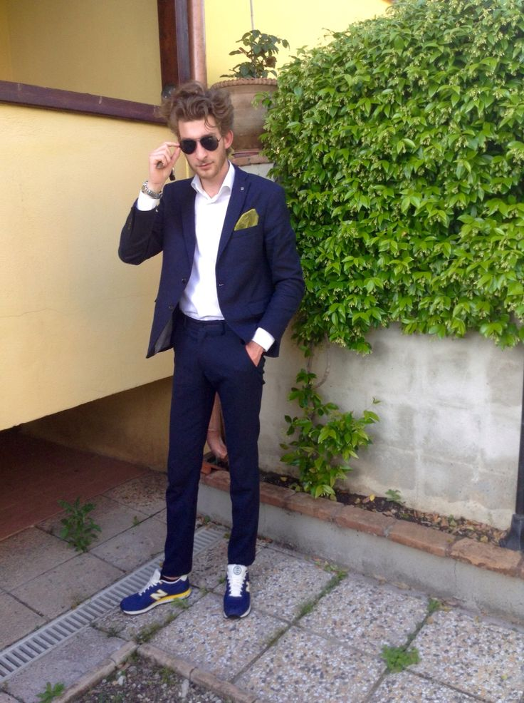 Zara suit with New Balance shoes!
