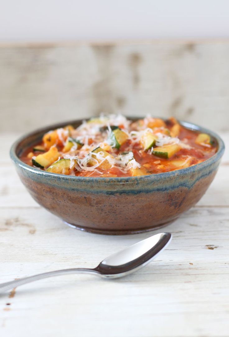 Vegetarian Lasagna Soup by reciperunner #Soup #Lasagna #Healthy