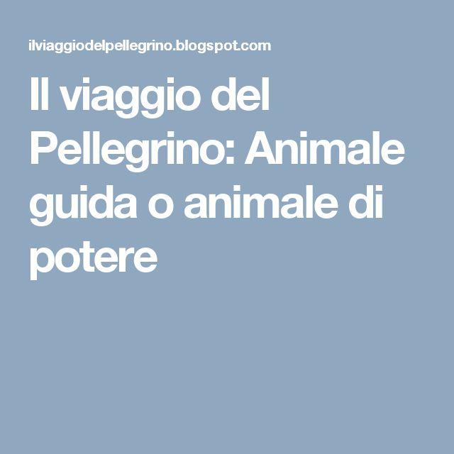 Il viaggio del Pellegrino: Animale guida o animale di potere