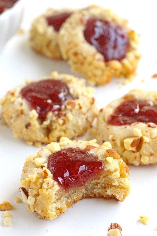 Gluten Free Jam Thumbprint Cookies Recipe Jam Thumbprint