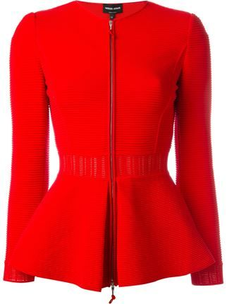 Giorgio Armani zipped peplum jacket More                                                                                                                                                                                 More