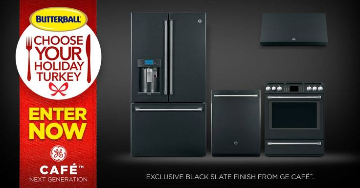 ENTER NOW for a chance to WIN a suite of new GE Café™ #BlackSlate (smudge-proof) appliances (to hide all those turkey fingerprints)