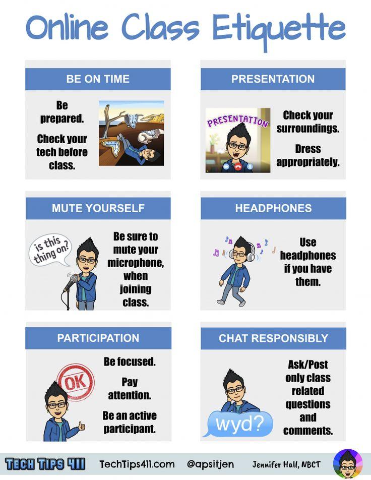 Quicksheet online class etiquette digital learning