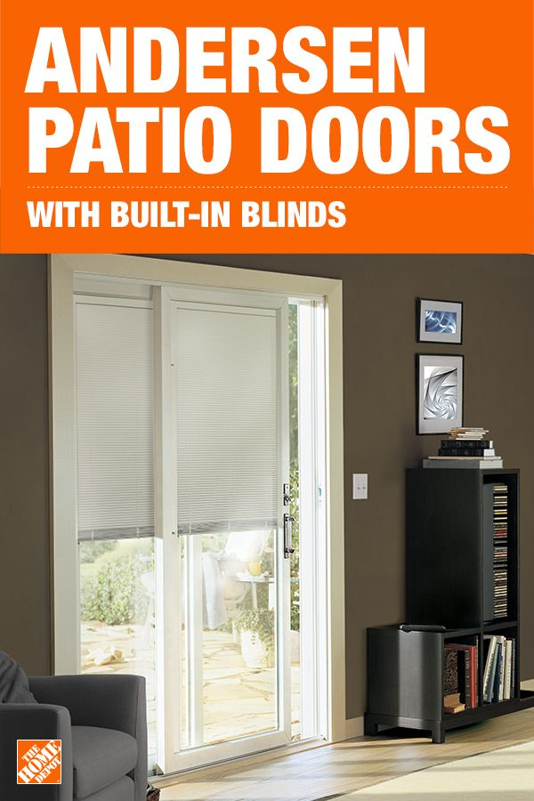 Blinds Between The Glass Puts Privacy At Your Fingertips And Makes Cleaning A Breeze The Blinds On Thi Andersen Patio Doors Patio Doors Small House Decorating