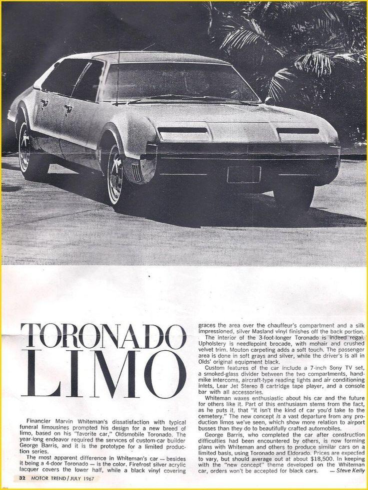 1966 Oldsmobile Toronado Limousine AD