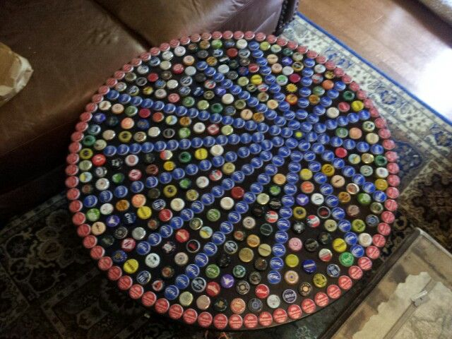 13 best Bottle Cap Table images on Pinterest Bottle cap table