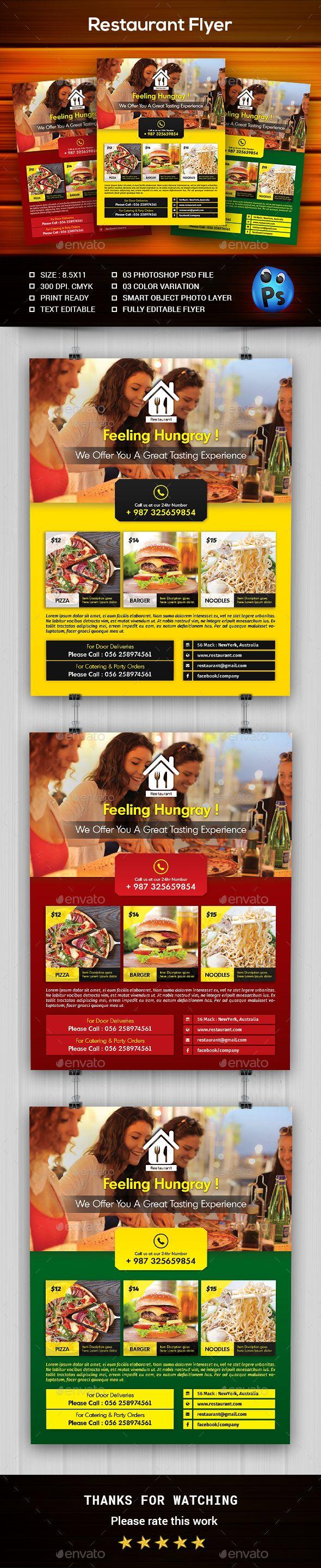 Exceptionnel Les 25 meilleures idées de la catégorie Flyer restaurant sur  CU71