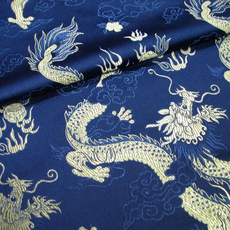 Темно-синие нижние облака грязи золотой парчи ткани Dalong / шелковой атласной ткани костюм / стиль