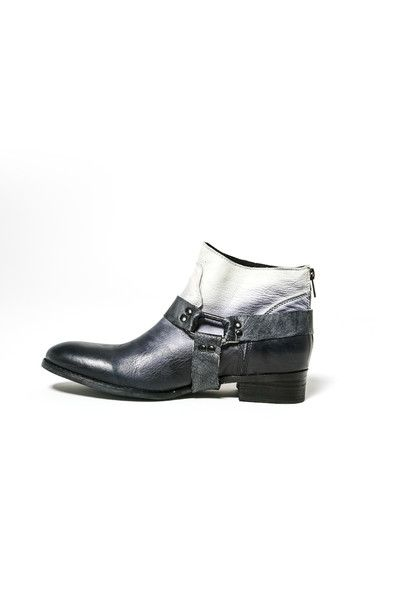 Dip Dyed Leather Boot - Wendys Ghost Ankle Boot