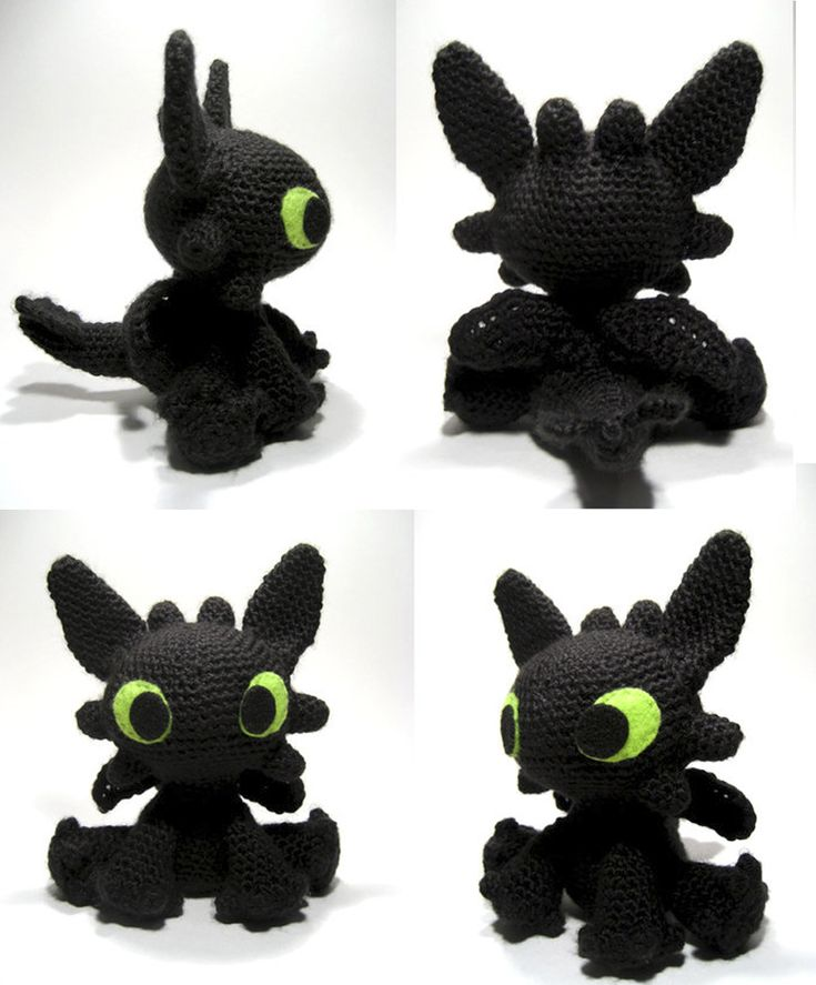 Free Crochet Pattern For Toothless The Dragon : Related Keywords & Suggestions for toothless amigurumi