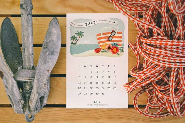 SHHH MY DARLING: free printable calendar 2014