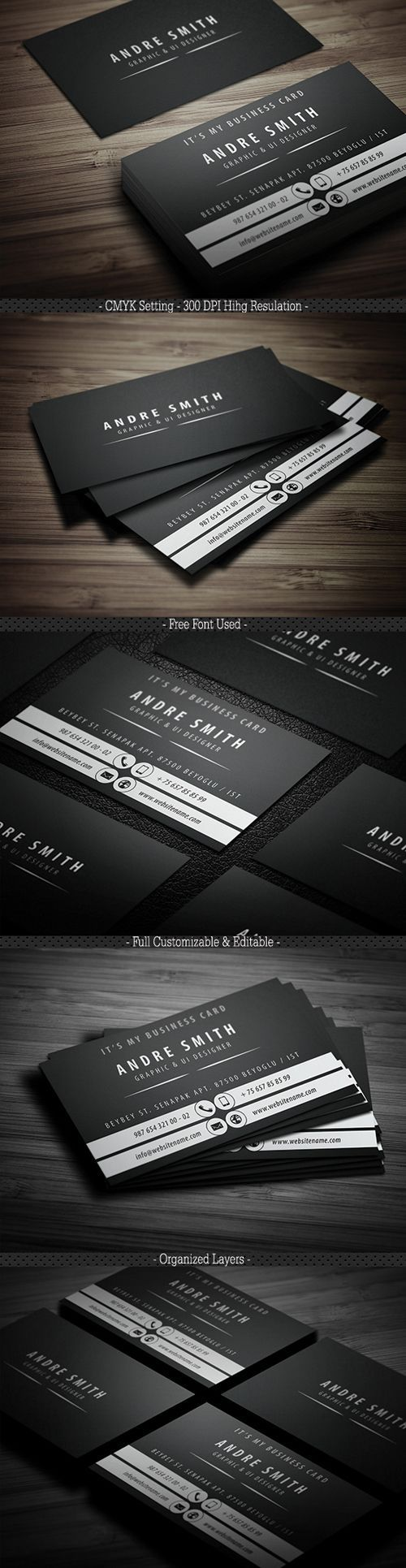 78 best business cards images on pinterest graphics branding buy black tone business card by yfguney on graphicriver full layered psd filescustomizable and editable cmyk setting 300 dpi high resulation x x with b magicingreecefo Images