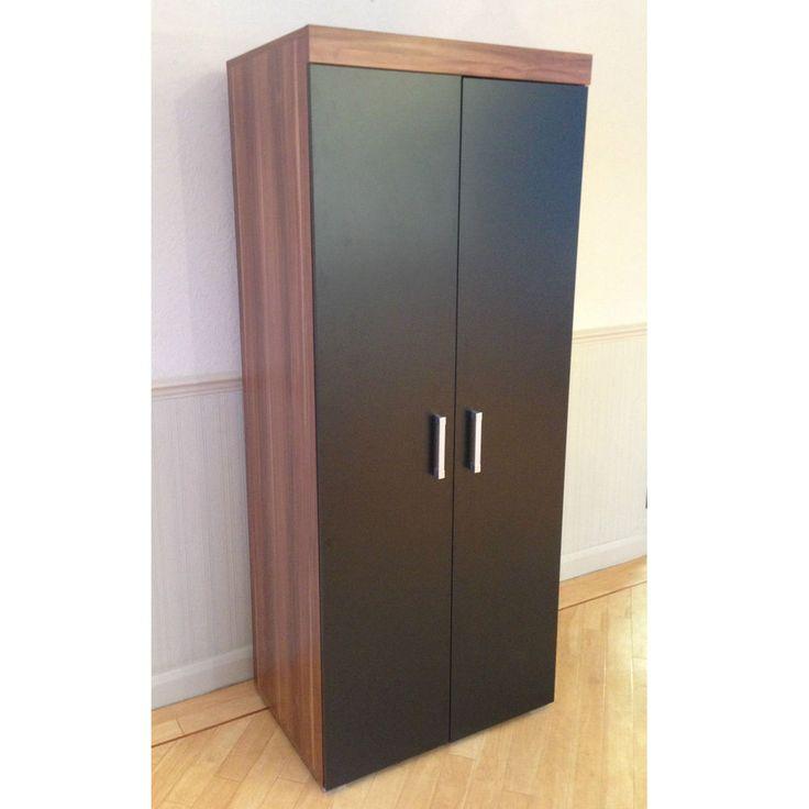 2 Door Double Wardrobe in Black & Walnut Bedroom Furniture * NEW * Set available in Home, Furniture & DIY, Furniture, Wardrobes | eBay