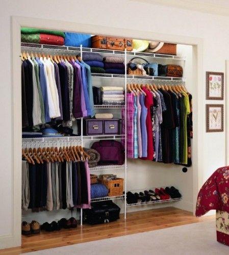 Wire shelving closet closets pinterest the purple for Interior closets modernos