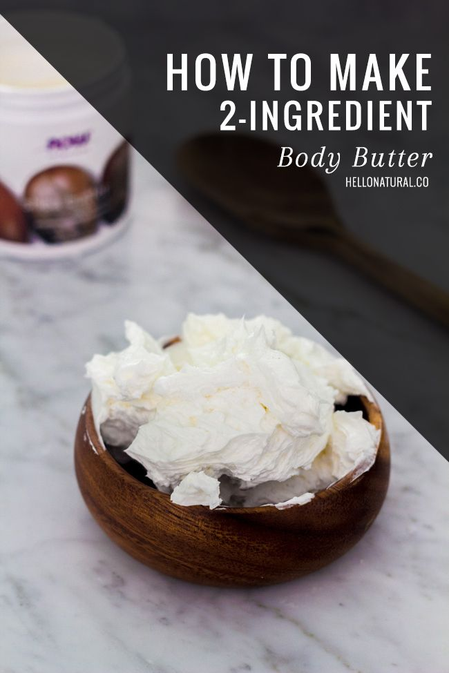How to Make Body Butter with 2 Ingredients | HelloNatural.co