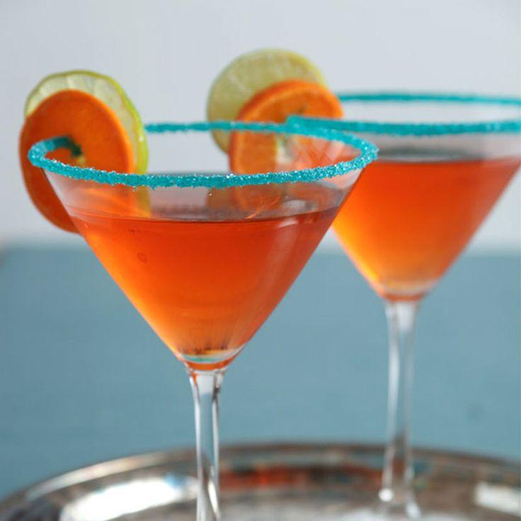 Teal cocktail rimming sugar