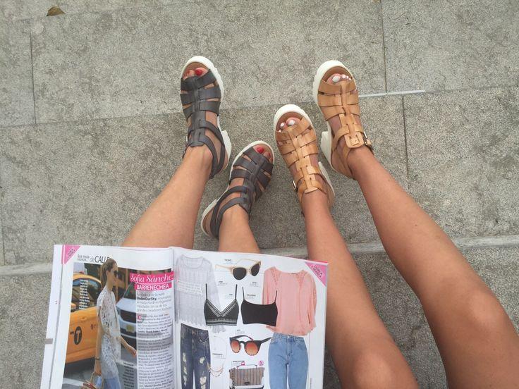 Echando un ojo a la moda con las #sandalias cangrejeras piel efecto vintage de Marlo's Feelings. LoVe!