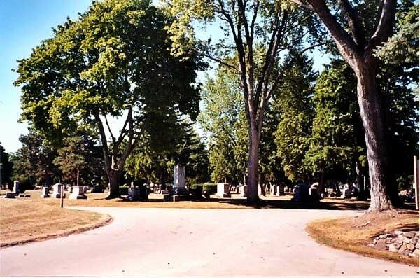 The entrance to Mt. Olivet Cemetery, Saginaw, MI, where my folks and my stepdad are buried. Pictures were taken in July, 2012, by my son, Joe.