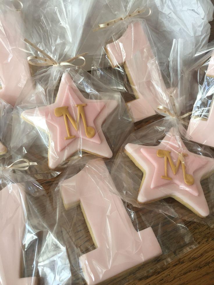 1st birthday cookies Twinkle twinkle little star theme