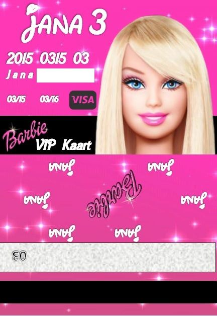 Barbie Party Vip Credit Card Cool Credit Card And Cash