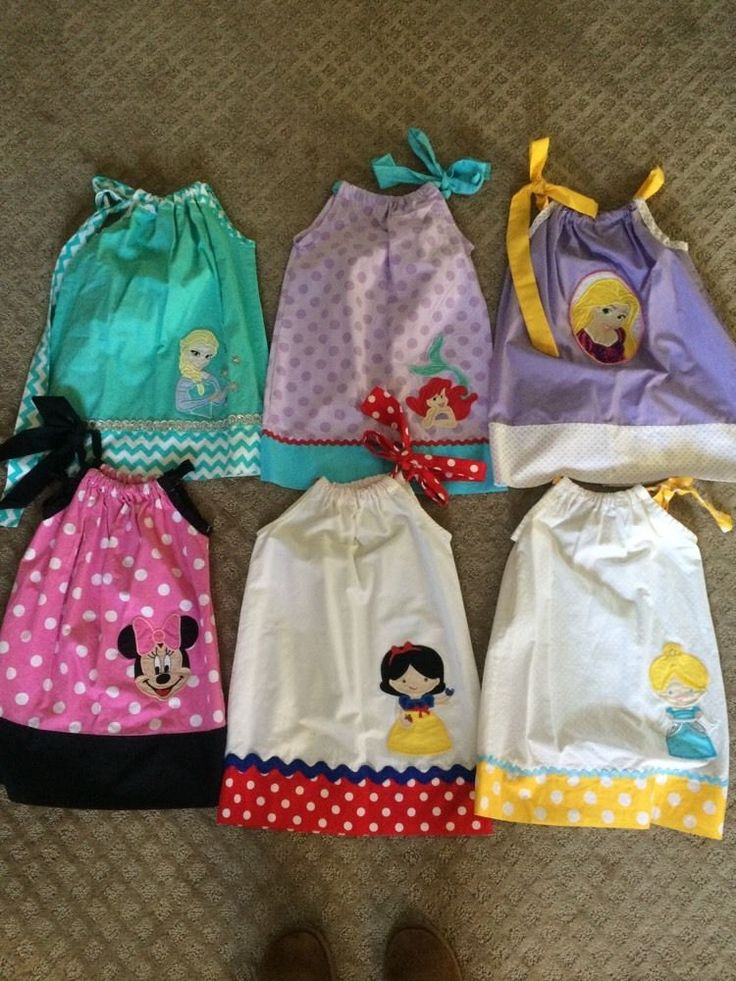 3t/4t handmade #disney princess pillow case dress's from $85.0