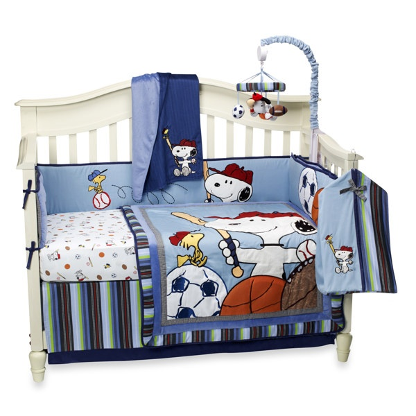 Lambs & Ivy® Team Snoopy 4-Piece Crib Set and Accessories