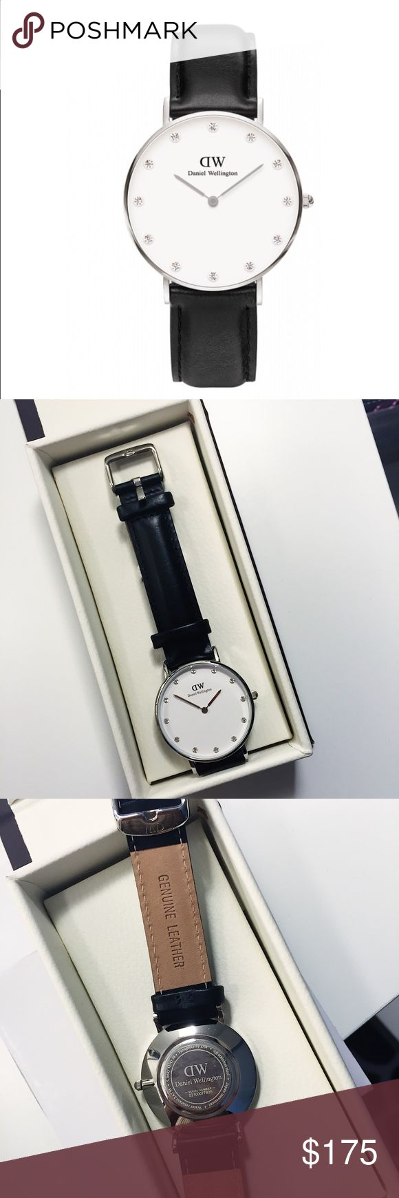 Daniel Wellington Sheffield 34mm watch Authentic  Size: 34mm  Strap width: 17mm Strap: leather strap  Like new- only worn once Original price: $199 USD Daniel Wellington Accessories Watches