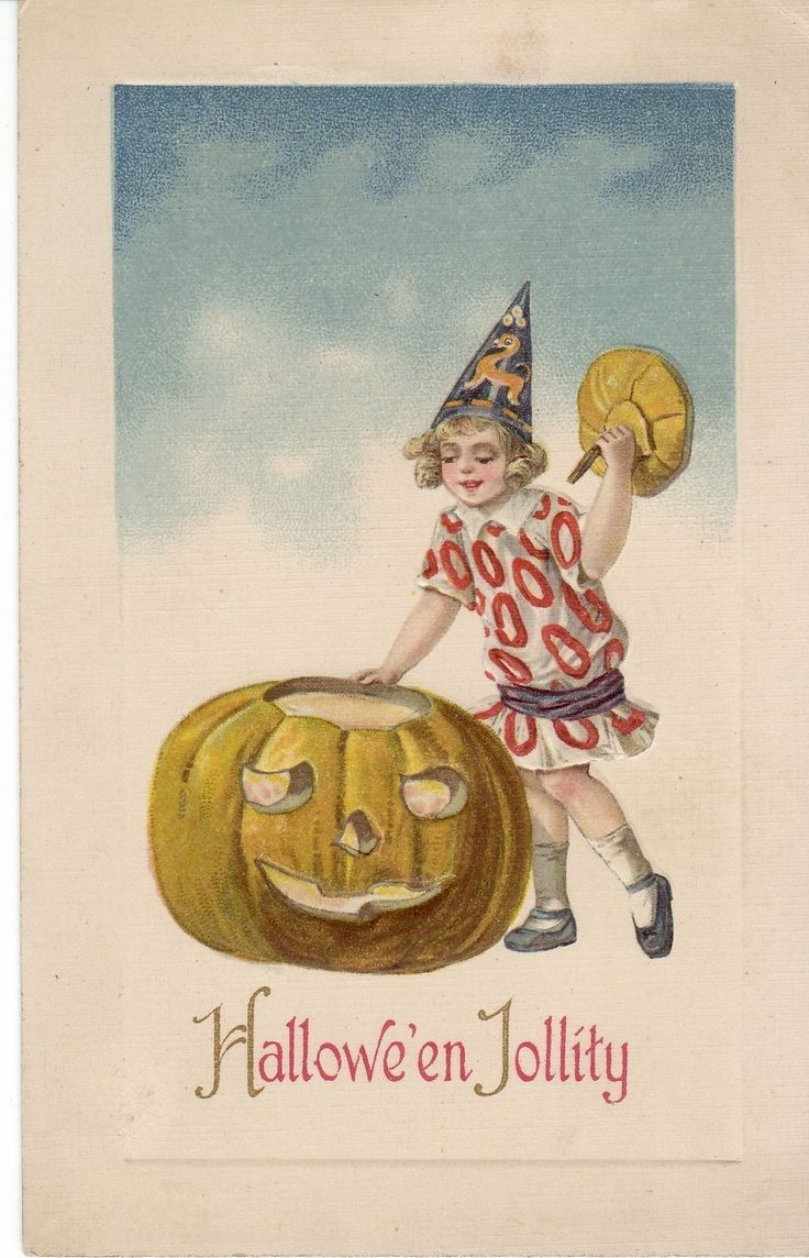 Vintage halloween window decorations - Vintage Halloween Card