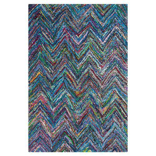 Stair Runner? - Safavieh Nantucket Multi-Colored Chevron Area Rug