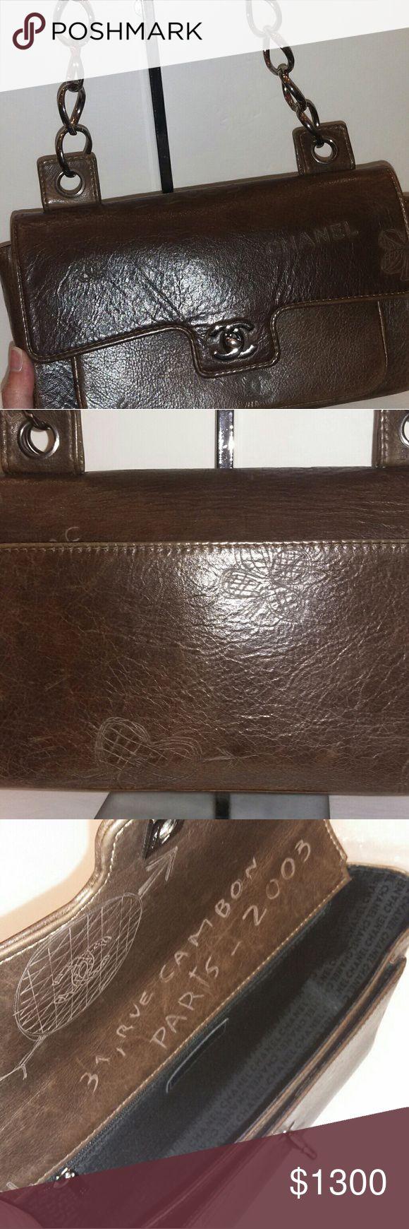 Chanel Shoulder Bag Chanel brown graffiti shoulder bag. Limited edition.  No trade CHANEL Bags Shoulder Bags