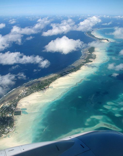 https://flic.kr/p/7Sw8Rb | Kiribati 09008 | Aerial view of South Tarawa, Kiribati