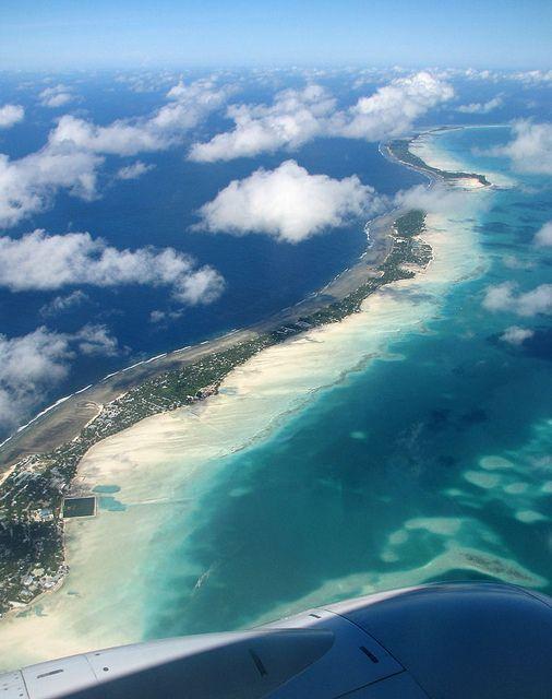 https://flic.kr/p/7Sw8Rb | Kiribati 09008 | Aerial view of South Tarawa, Kiribati