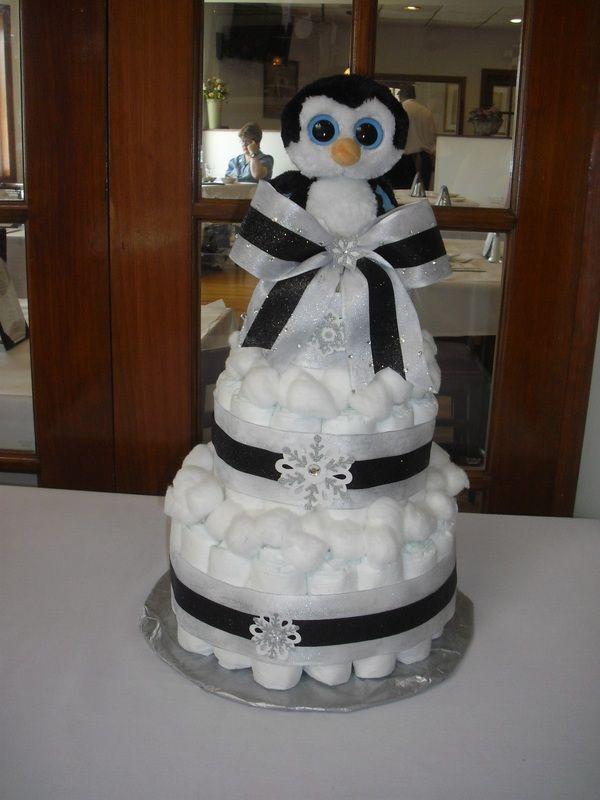 Penguin Diaper Cake Gina D S Baby Shower Pinterest