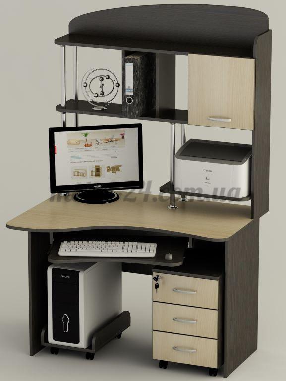 Компьютерный стол СК 21, компьютерные столы магазин с витриной, Бровары, Киев, Белая Церковь, цена и отзывы, Тиса