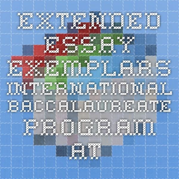 Extended Essay Exemplars - International Baccalaureate Program at MHS