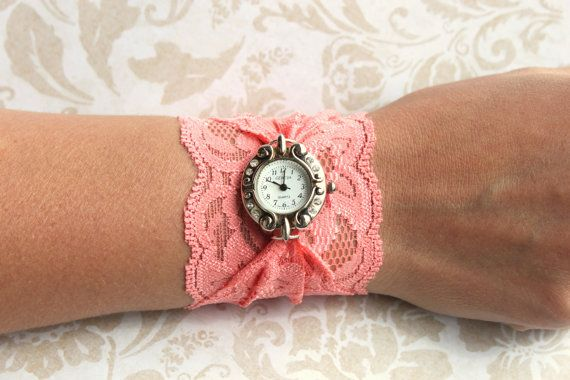 Lace watchDecor Ideas, Vintage Watches, Diy Lace, Diy Fashion, Vintage Lace, Diy Gift, A Tattoo, Lace Watches, Vintage Style