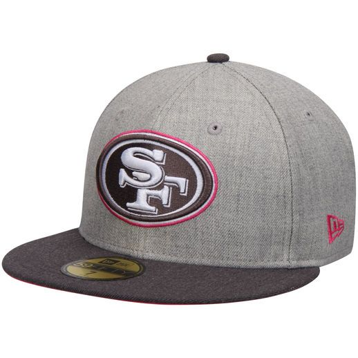 New Era San Francisco 49ers Gray/Graphite Breast Cancer Awareness On-Field  59FIFTY Fitted