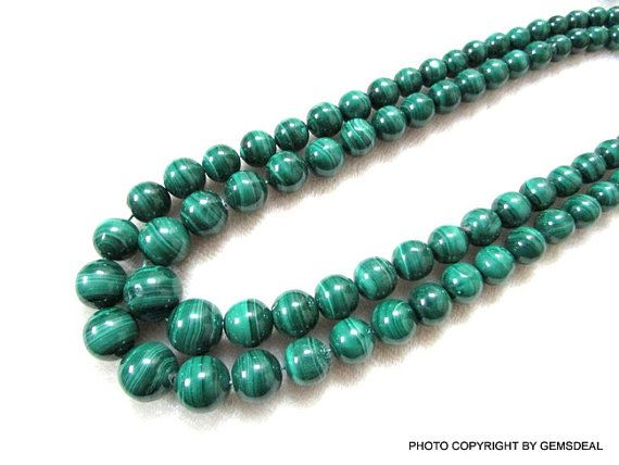 GEMSDEAL 7 mm to 12 mm Natural GREEN MALACHITE Smooth Balls Roundel  have lots of gorgeous.....