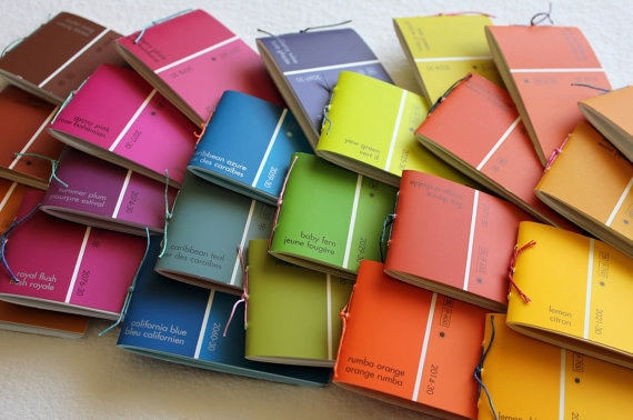 paint chip notepads