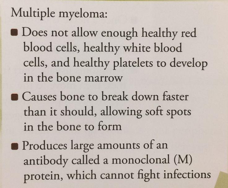 Multiple myeloma explanation.