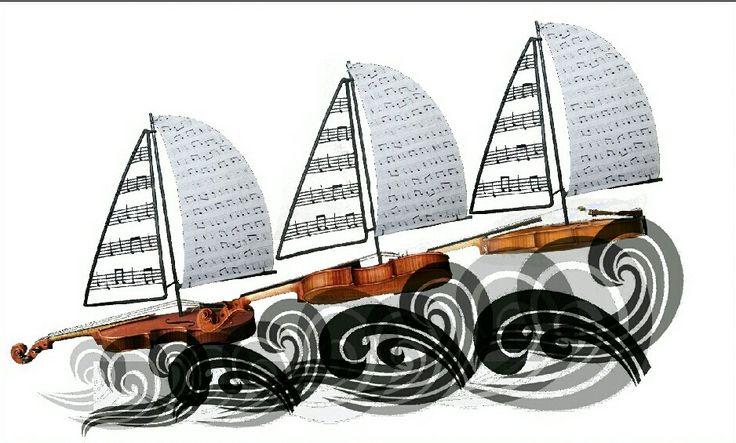 bloemencorso Vollenhove ontwerp 2014 'sons de la mer'