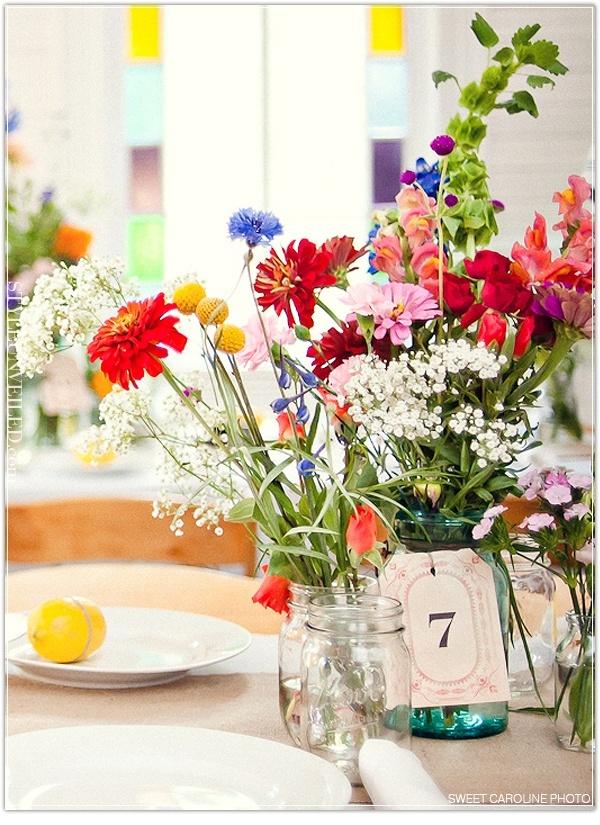 wildflower centerpieces